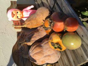 かぼちゃと柿とトマト